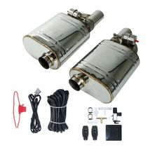 """2Pcs 2.5""""Tips Exhaust Muffler Valve Cutout With One Wireless Remote Cont... - $370.36"""
