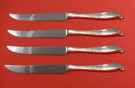 Wishing Star by Wallace Sterling Silver Steak Knife Set 4pc Texas Sized Custom - $247.10