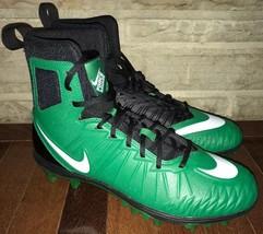 9aec93f51 New Nike Force Savage Varsity Football Cleats High Top Green Black Mens... -