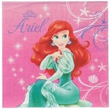 Little Mermaid Ariel Disney Princess Birthday Party Paper Luncheon Napkins - $8.17