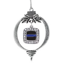 Inspired Silver Tennessee Thin Blue Line Classic Holiday Ornament - $14.69