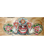 """Mask Bali Hindu Boma Mask Great for Entrance way Hand carved 16"""" WHITE - $56.93"""