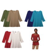 Slinky Brand 3/4-Sleeve Long Tunic, One per order, Pack of one - $19.99