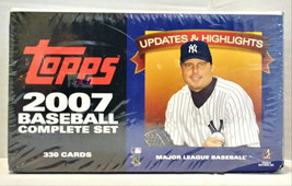 2007 Topps Baseball Hobby Box Updates & Highlights Complete Set 330 New - $69.99