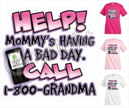 MOMMY`S HAVING A BAD DAY T-shirt Children Kids Unisex Girl Boy Funny KP190 - $12.99