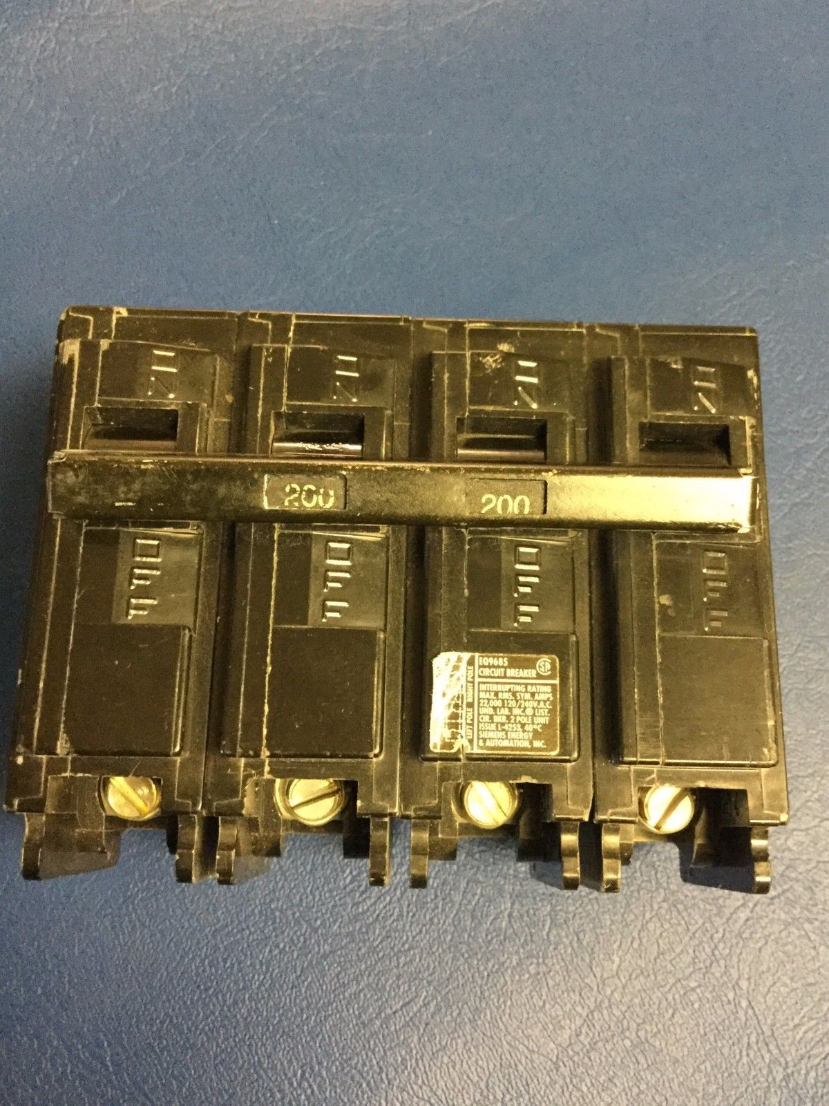 Pushmatic 200 Amp Fuse Box Electrical Wiring Diagrams 400 Siemens Eq 9685 4 Pole Main Breaker And Similar Items Service Panel