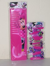 Disney Minnie Mouse Set of 2 Comb and 6 Barrettes Mint in Package - $13.56
