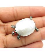LEONIE MACHERAT FRANCE 925 Silver - Vintage Mother Of Pearl Brooch Pin -... - $36.01