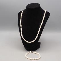 Vintage Pearl Necklace & Bracelet Set - $49.49