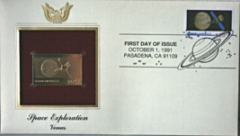 SPACE EXPLORATION : Venus First Day Gold Stamp Issue Oct. 1, 1991 - $8.50