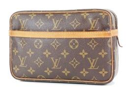 Authentic LOUIS VUITTON Compiegne 23 PM Monogram Pochette Clutch Bag #34356 - $229.00