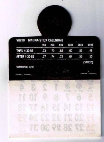 Fletcher's Muffler Brake Shop Happy Face Magnetic Calendar 1993 Fridge Magnet