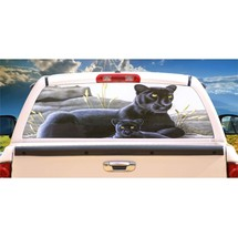 Black Panther and Cub Rear Window Mural, Decal, or Tint for rear window in Truck - $77.99