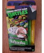 Teenage Mutant Ninja Turtles Tattoodles 49 Tattoos 2 Pens - $5.87