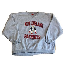 New England Patriots Reebok Retro Logo Crewneck Sweatshirt Gray Mens XXL... - $39.99