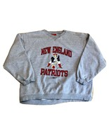 New England Patriots Reebok Retro Logo Crewneck Sweatshirt Gray Mens XXL NFL - $39.99