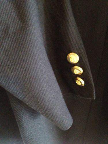 Talbots Navy Wool Blazer Lined Nautical Buttons Professional Career Sz 6 EUC