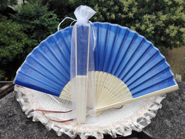 12Pcs/Lot 21cm Party Wedding Favors Gift Dark Blue Wedding Bridal Silk H... - $24.95