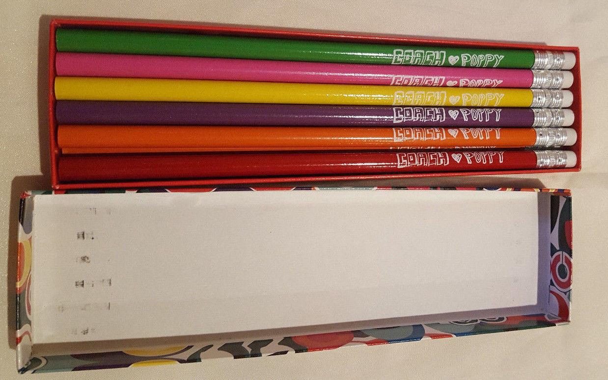 Coach Poppy Pencil Set in box - 12 Pencils image 3