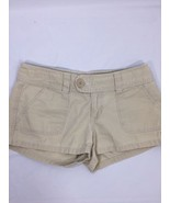 Aerropostale Women Shorts Tan  Above Knee Cotton Embroidered Butterfly S... - $16.83