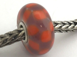Authentic Trollbeads Red Purple Chess (B) Glass Bead Charm, 61369 New - $24.27