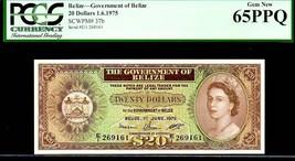 """BELIZE P37b """"QUEEN ELIZABETH II' $20 1975 PCGS 65PPQ - $4,450.00"""