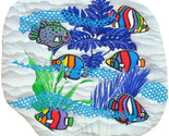 Crayon Fish in the  Sea: Quilted Art wall hanging