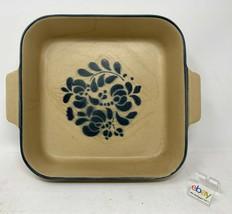 """Pfaltzgraff USA """"Folk Art"""" #237 Square 2 Quart Baker, 8"""" - Age Cracks Bu... - $21.99"""