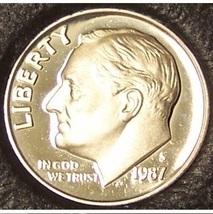 1987-S DCAM Proof Roosevelt Dime PF65 #0203 - $2.39