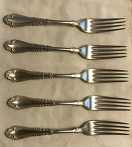 EUC Rogers Bros. Silver Plated Forks (5) Rogers Bros.1847 A1  SALE  /1 - $4.75