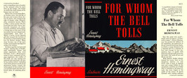 Ernest Hemingway-Facsimile jacket for Whom The Bell Tolls 1st ed and ear... - $22.54