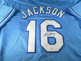 BO JACKSON / AUTOGRAPHED KANSAS CITY ROYALS BLUE CUSTOM BASEBALL JERSEY / COA