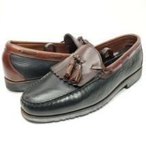 Allen Edmonds Nashua Black Brown Leather Tassel Two Tone Loafers Men's 9... - $51.43