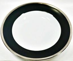 Haviland Limoges Laque De Chine Platinum Rim - Noir Deep Round Platter - $247.48