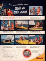 1950 Sailboat Kodak Movie Camera Cine-Kodak Reliant Vintage Original Print Ad - $8.54