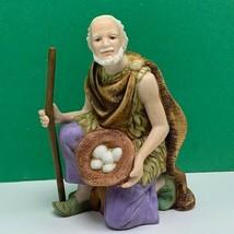 Thomas Kinkade porcelain figurine vintage statue humble offering nativity kings - $48.17