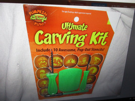 PumpkinFun World Ultimate Carving Kit 10 Pop-Out Stencils New - $2.97