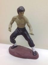Vintage Ceramic Bruce Lee Martial Arts Pose Numbered Figure - $49.50