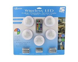 i-Zoom Wireless LED Color Changing Push Lights with Remote Control, 5 Pa... - €23,12 EUR