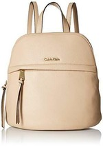 NWT Calvin Klein Classic Pebble Backpack, Wheat - $119.39