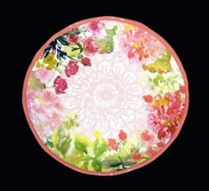 "4 Watercolor Spring Floral Garden 10-3/4"" Melamine Scalloped Dinner Plat... - $42.99"