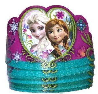Anna & Elsa Disney Frozen Tiaras Paper Crowns 8 Pack