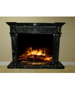 Black White Marble Fireplace Surround Mantel Family Great Room FPS-20 68x48x16 - $3,198.00
