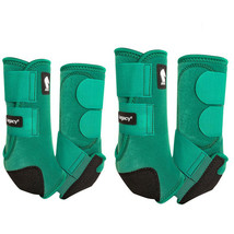 Classic Equine Horse Front Hind Boots Classic Legacy System Emerald Gree... - $173.98
