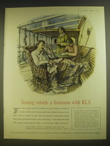 1955 Guinness Beer Advertisement - exerpt from letter by Robert Louis Stevenson - $14.99