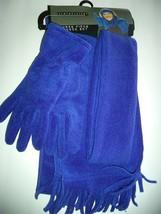 Relativity Ladies 3 Piece Scarf & Glove Set, Cobalt Blue - $18.55