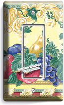 Fresh Fruits Vegetables Victorian Single Gfci Light Switch Plates Kitchen Decor - $8.99