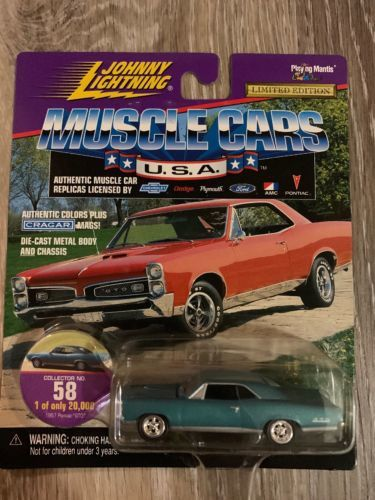 Johnny Lightning 1967 PONTIAC GTO    Muscle Car series   Aqua
