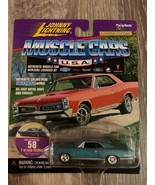 Johnny Lightning 1967 PONTIAC GTO    Muscle Car series   Aqua - $9.88