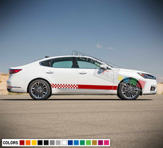Decal Sticker Stripe Kit For Kia Cadenza Wing Bumper Carbon tail lights ... - $55.00